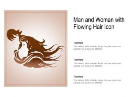 Man And Woman With Flowing Hair Icon