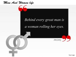 Man And Women life PowerPoint Template Slide