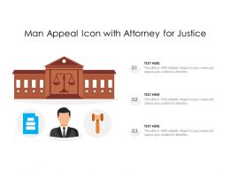 Man Appeal Icon With Attorney For Justice