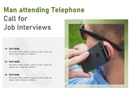 Man Attending Telephone Call For Job Interviews