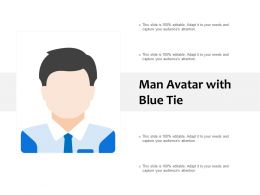 Man Avatar With Blue Tie