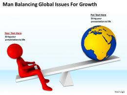 Man Balancing Global Issues For Growth Ppt Graphics Icons Powerpoint