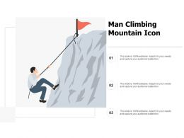 Man Climbing Mountain Icon