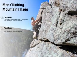 Man Climbing Mountain Image