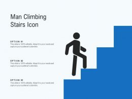 Man Climbing Stairs Icon