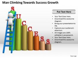 Man Climbing Towards Success Growth Ppt Graphics Icons Powerpoint