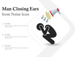 Man Closing Ears From Noise Icon