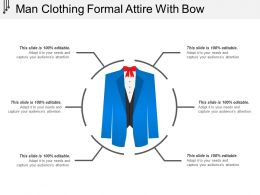 Man Clothing Formal Attire With Bow