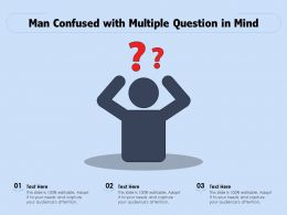 Man Confused With Multiple Question In Mind