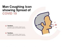 Man Coughing Icon Showing Spread Of COVID 19