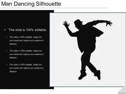 Man Dancing Silhouette Ppt Templates