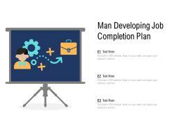 Man Developing Job Completion Plan