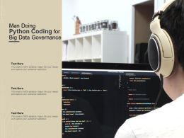 Man Doing Python Coding For Big Data Governance