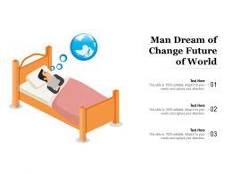 Man Dream Of Change Future Of World