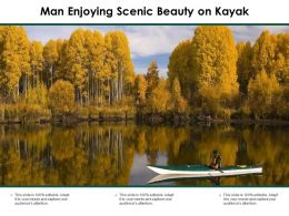 Man Enjoying Scenic Beauty On Kayak