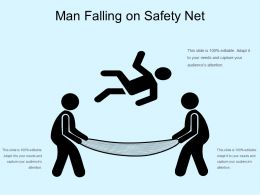 Man Falling On Safety Net