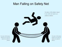Man Falling On Safety Net