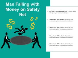 Man Falling With Money On Safety Net