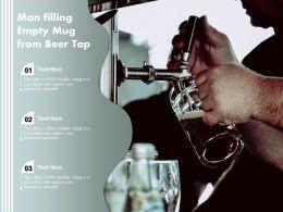Man Filling Empty Mug From Beer Tap