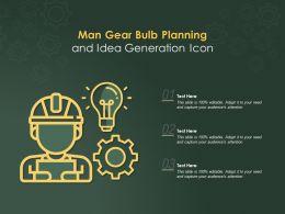 Man Gear Bulb Planning And Idea Generation Icon