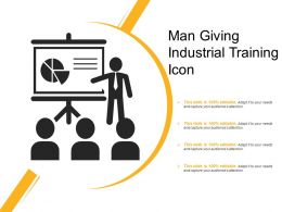 Man Giving Industrial Training Icon