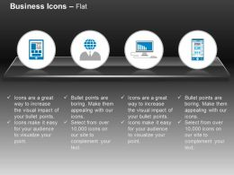 Man Globe Head Computer Mobile Technology Ppt Icons Graphics