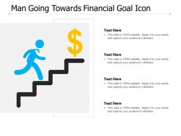 Man Going Towards Financial Goal Icon