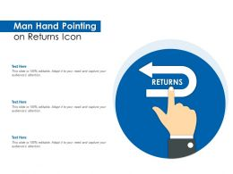 Man Hand Pointing On Returns Icon