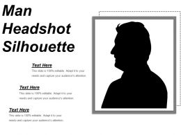 Man Headshot Silhouette Powerpoint Templates