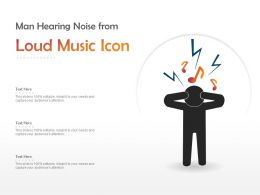 Man Hearing Noise From Loud Music Icon