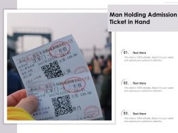 Man Holding Admission Ticket In Hand