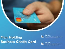 Man Holding Business Credit Card