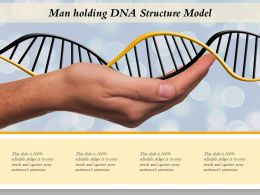 Man Holding DNA Structure Model