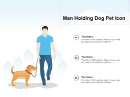 Man Holding Dog Pet Icon