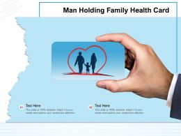 Man Holding Family Health Card