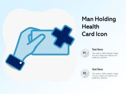 Man Holding Health Card Icon