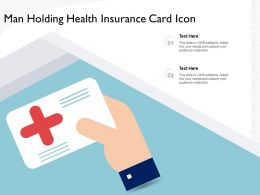 Man Holding Health Insurance Card Icon
