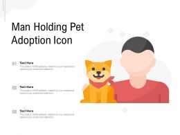 Man Holding Pet Adoption Icon