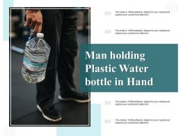 Man Holding Plastic Water Bottle In Hand
