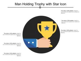 Man Holding Trophy With Star Icon