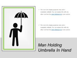 Man Holding Umbrella In Hand