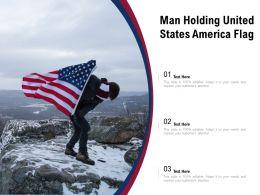 Man Holding United States America Flag