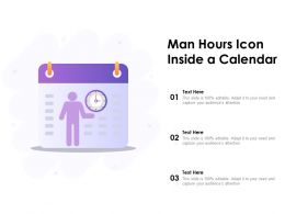 Man Hours Icon Inside A Calendar
