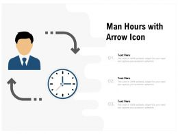 Man Hours With Arrow Icon