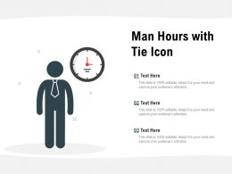 Man Hours With Tie Icon