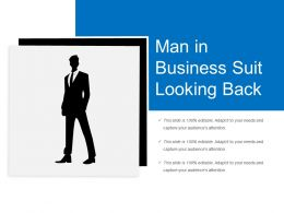 Man In Business Suit Looking Back