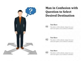 Man In Confusion With Question To Select Desired Destination