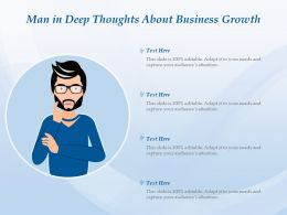 Man In Deep Thoughts About Business Growth