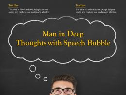 Man In Deep Thoughts With Speech Bubble