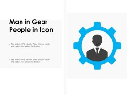 Man In Gear People In Icon